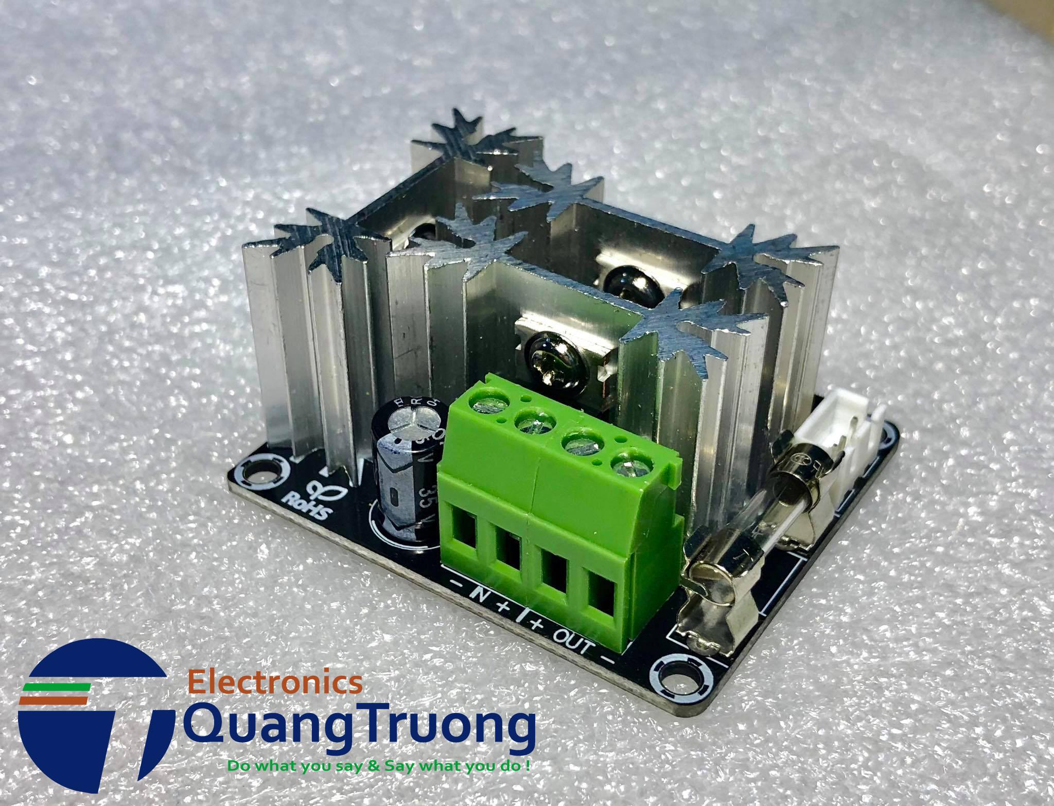 Mạch điều khiển tốc độ động cơ ( dimmer) 15A có khởi động mềm